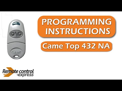 Programming my remote Came Top 432 NA  YouTube