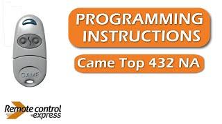 Programming my remote Came Top 432 NA thumbnail