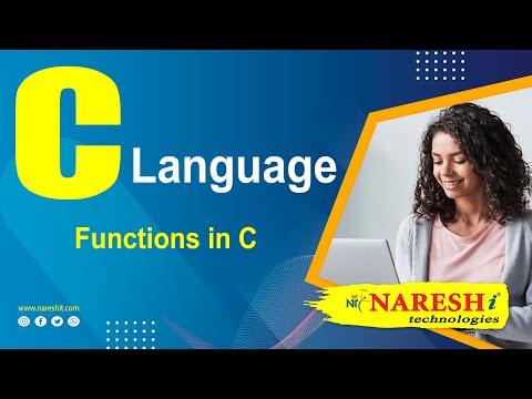 Functions In C | C Language Tutorial | Mr. Srinivas