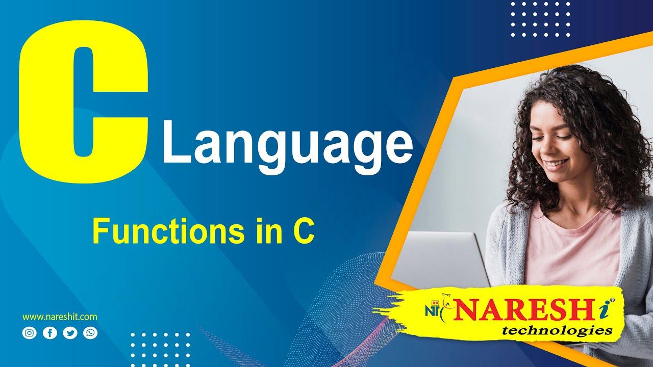 Functions in C | C Language Tutorial | Mr  Srinivas