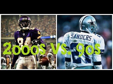 NFL ALL DECADE TOURNAMENT - WHAT IF - 90s vs 2000s - MOSS vs. DEION