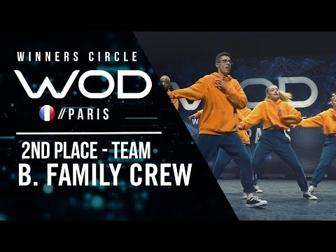 B. Family Crew | 2nd Place Team Division | World of Dance Paris Qualifier 2018 | Winner's Circle
