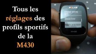 Réglages profils sportifs M430