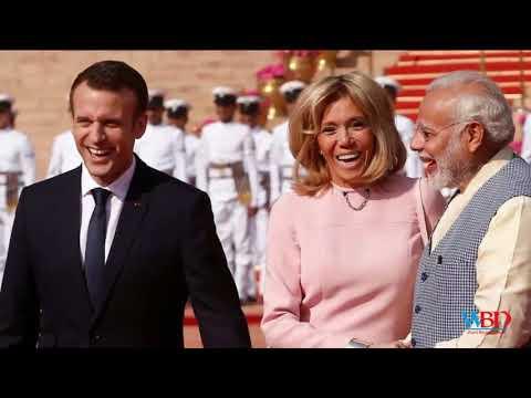 Emmanuel Macron In India: PM Modi, French President Take Boat Ride, Inaugurate Solar Plant