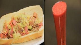 سندوتش اللحوم بالجبن - كوكتيل البرتقال الاحمر بالتوت | ساندوتش وحاجة ساقعة الحلقة كاملة