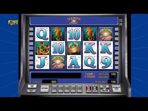 Spin City - Игровой автомат Dolphins Pearl (Жемчужина Дельфина, Дельфины)