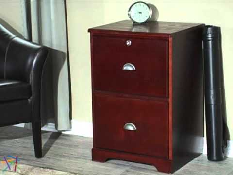 Merveilleux The Hawthorne 2 Drawer Filing Cabinet Dark Cherry   Product Review Video    YouTube