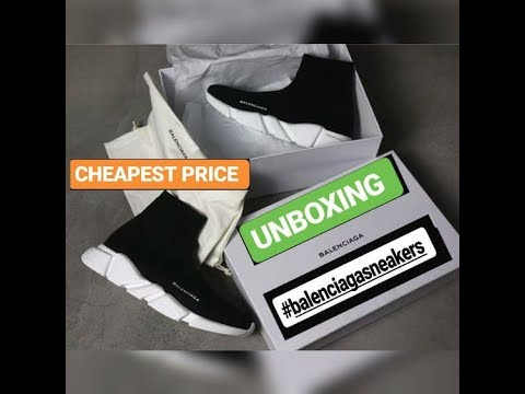UNBOXING Balenciaga Speed Trainers Sneaker  Ioffer Aliexpress  Balenciaga  shoes Speed Runner Review 1c4646a6402