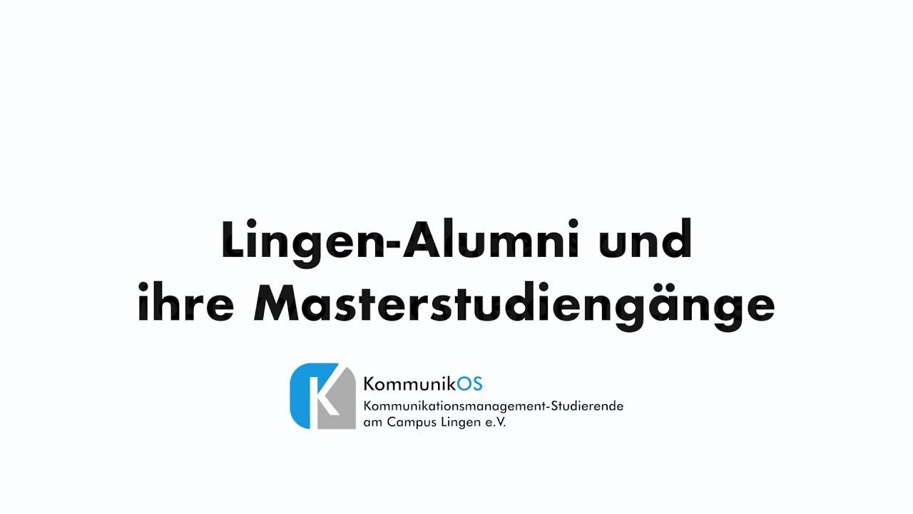 Lingen-Alumni und ihre Masterstudiengänge