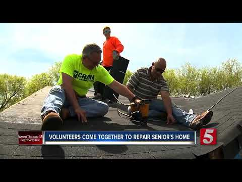 Volunteers Come Together To Fix Senior's Home