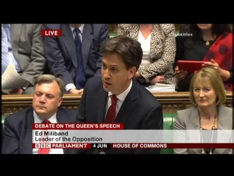 Ed Miliband's response to Queen's Speech 2014