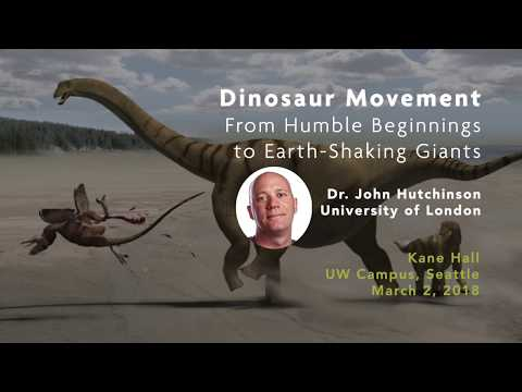 Dinosaur Movement: From Humble Beginnings to Earth-Shaking Giants | Dino Lecture, March 2, 2018