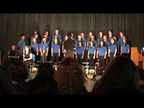 Brianna with the Mountain View Middle School Choir