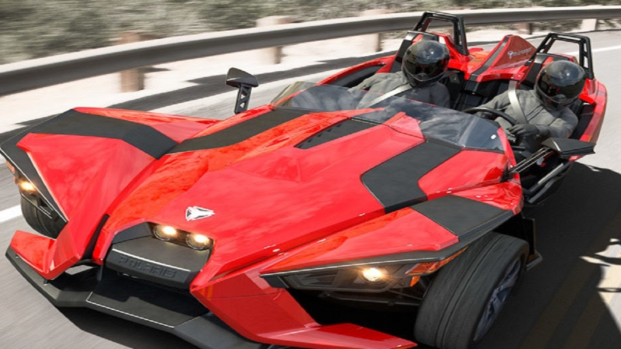 Nice POLARIS THREE WHEEL CAR, AMAZING CARS IN DUBAI, SPORTS CARS IN DUBAI