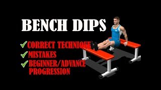 Bench Dips Tutorial II How to perform bench dips for Triceps
