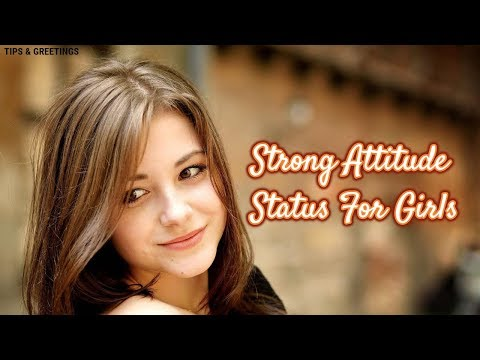 Strong Attitude Status For Girls || Girl Attitude Status Quotes