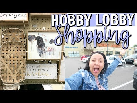 HOBBY LOBBY SHOP WITH ME 2018 | SHOPPING FOR HOME DECOR AT HOBBY LOBBY! | Page Danielle