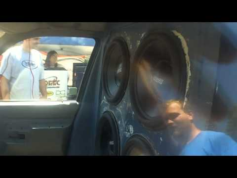 157db SOUND SYSTEM / Mike's 16,000 Watt STEREO - Loudest SPL @ Sanford Bikini Car Wash 2011