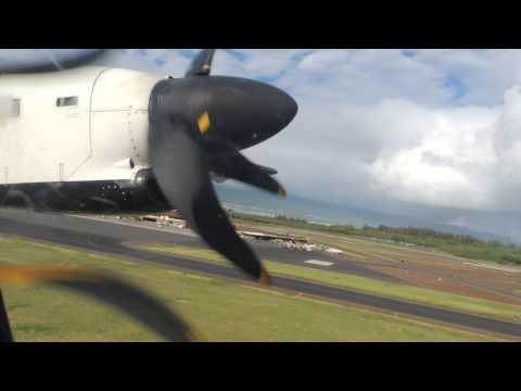 Island Air ATR-72 [N942WP] pushback and takeoff from OGG