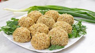 Салат Мимоза в виде закусочных шариков