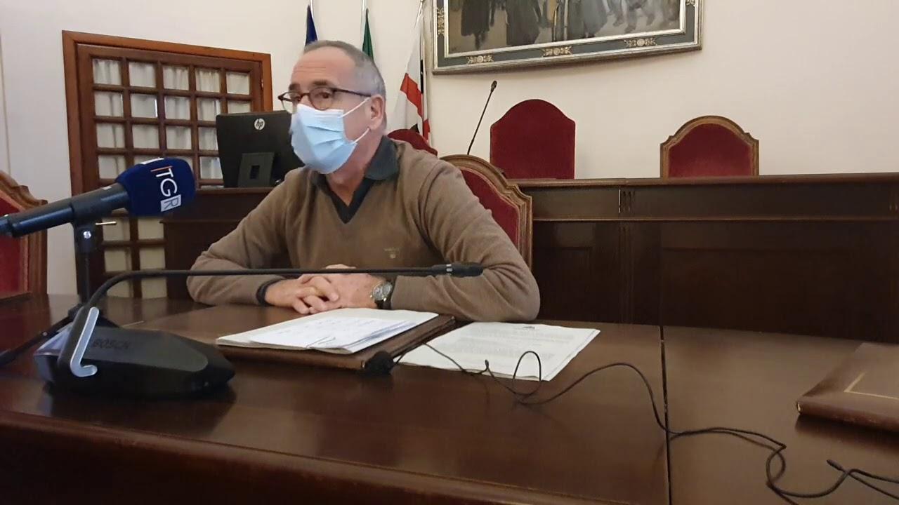 Conferenza stampa del sindaco di Sassari Gian Vittorio Campus 16/11/2020