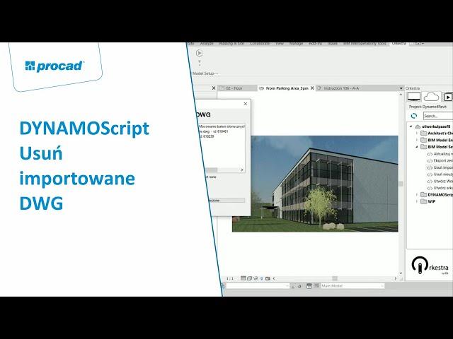 DYNAMOScript - Usuń importowane DWG