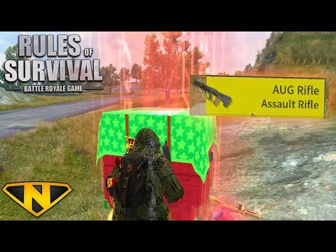New AUG Assault Rifle + Wild Dragon Camo! (Rules of Survival: Battle Royale #55)