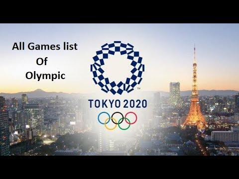 Tokyo Olympic 2020 Games List All Games Complete list