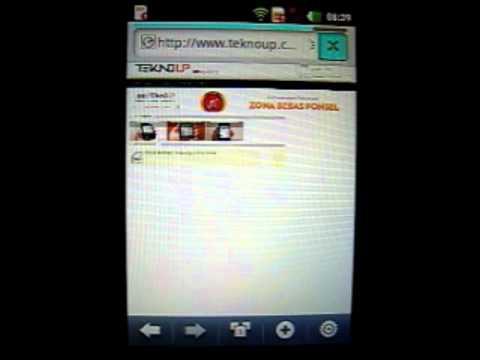 Browser LG Optimus Hub