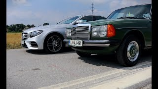 Mercedes E 220d (W213) and 300d (W123)