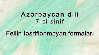 Azərbaycan dili - Feilin təsriflənməyən formaları