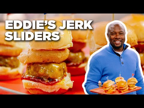 Jerk-Style Cheeseburger Sliders with Eddie Jackson | Food Network