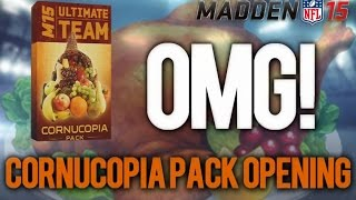 MUT 15 - CORNUCOPIA PACK OPENING LIVE W/ FACECAM! OH MY GOD! - Madden 15 Ultimate Team