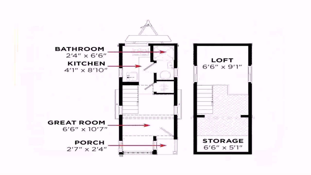Tiny House Floor Plans With Measurements See Description