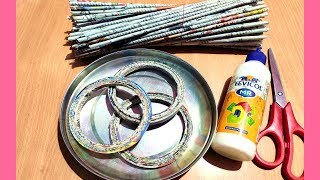 Newspaper Craft Idea | Best out of waste | Newspaper Home Decor Idea