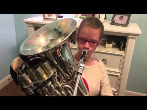 Chloe plays the euphonium