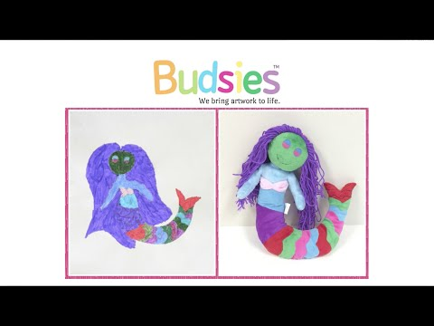 Custom Stuffed Animals from Kids Drawings - Watch Bella's Mermaid Picture Come to Life