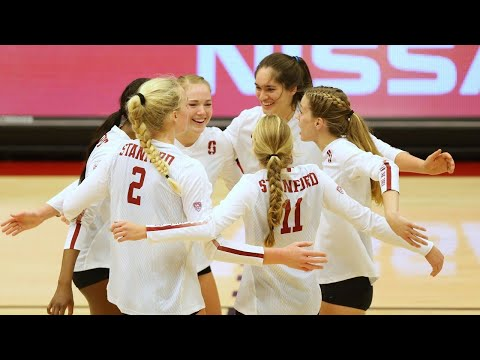 Highlights: Stanford women's volleyball sweeps Texas to advance to National semifinal