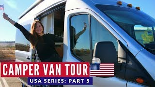 Camper Van Tour & Road Trip | First VANLIFE Experience USA | Brits in America Part 5