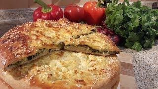 Рецепт хачапури со шпинатом , зеленью и сыром , проверенный временем