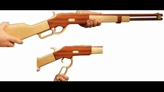 First Try To Make Wooden Rubber Gun