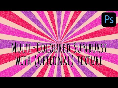 Photoshop - Multicolored Sunburst with Optional Texture