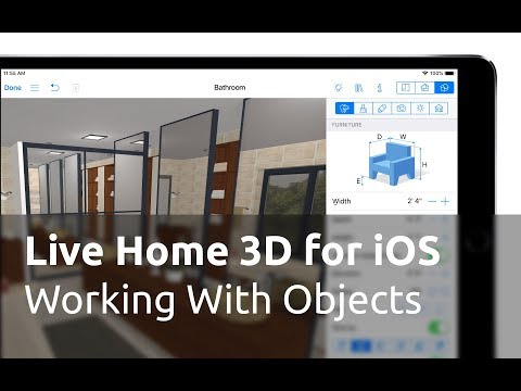 Live Home 3D for iOS Tutorials - Working with Objects