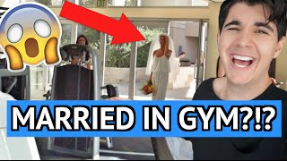 she got married in a gym
