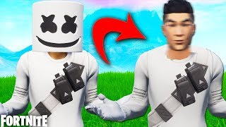 THE FACE OF MARSHMELLO IN FORTNITE 😱 Revealing Skin Faces