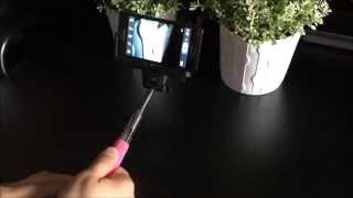 how to use wireless bluetooth extendable self portrait monopod for ios and android