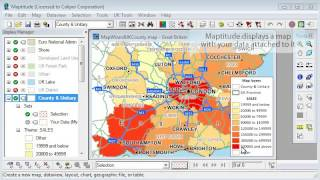 Maptitude Mapping Software 6.0: Creating a Map Using United Kingdom Data