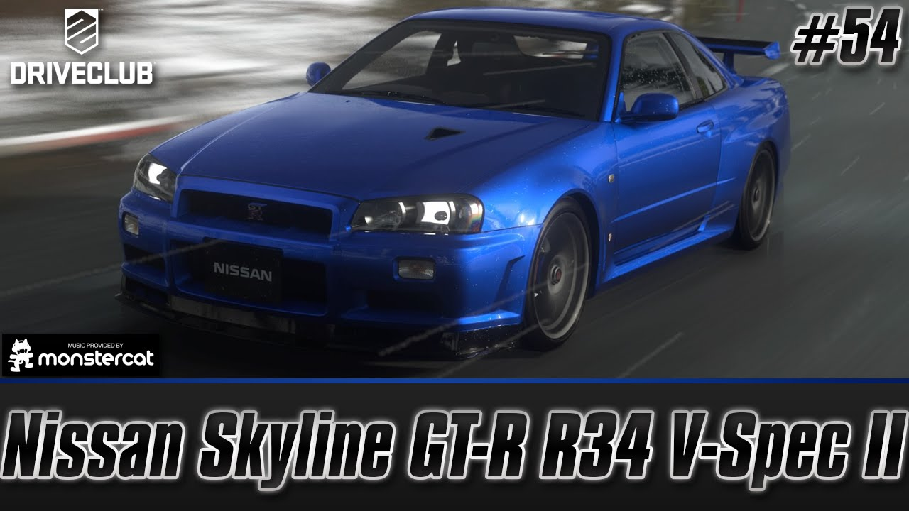 Driveclub: Nissan Skyline GT R R34 V Spec II (First Drive) | No Limits  Expansion Pack (Episode #54)   YouTube