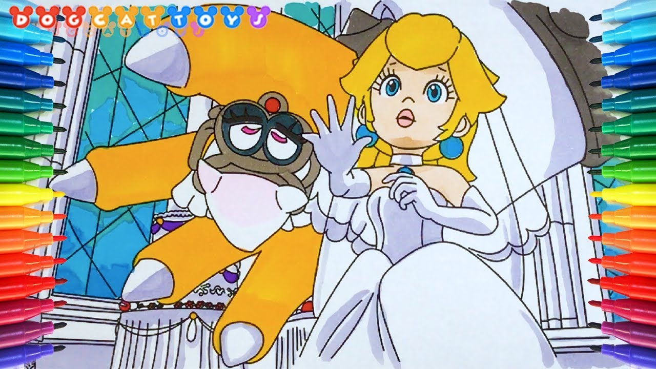 How To Draw Super Mario Odyssey Princess Peach 205 Drawing Coloring Pages Videos For Kids
