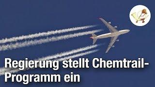 Regierung stellt umstrittenes Chemtrail-Programm ein